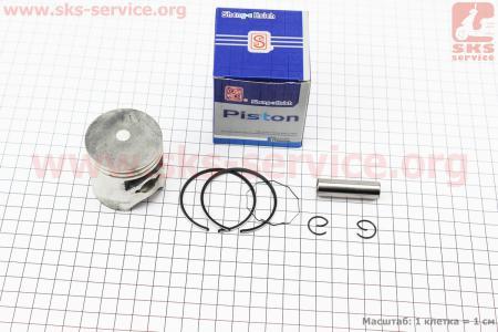 Поршень, кольца, палец к-кт Honda DIO ZX80 48мм +0,25 синяя коробка (палец 12мм)
