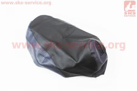 Чехол сидения Honda DIO AF34 (эластичный, прочный материал) черный/синий