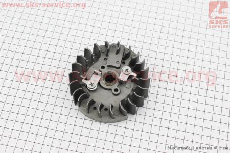 """Ротор магнето + """"собачка (метал)"""" в сборе для китайских бензопил 4500/5200"""