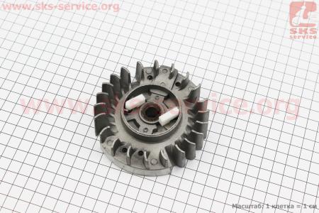 """Ротор магнето + """"собачка (пластик)"""" в сборе для китайских бензопил 4500/5200"""