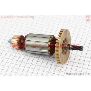 Якорь (Dжелеза=41мм, Lжелеза=50мм, Dколектора=28мм, L=162мм, Z=6 наклон зубов вправо) Ferm для электропил