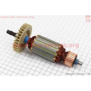 Якорь (Dжелеза=41мм, Lжелеза=50мм, Dколектора=28,3мм, L=174мм, Z=6 наклон зубов вправо) Stern, Powertec для электропил