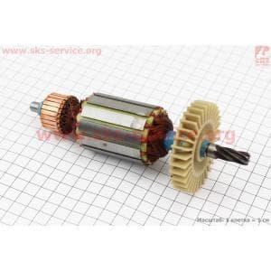 Якорь (Dжелеза=43мм, Lжелеза=50мм, Dколектора=28мм, L=174мм, Z=6 наклон зубов вправо) Powertec для электропил