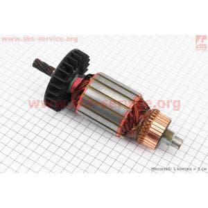 Якорь (Dжелеза=54мм, Lжелеза=53мм, Dколектора=40мм, L=190мм, Z=8 наклон зубов вправо) Rebir KZ для электропил