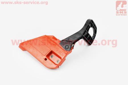 Ручка тормоза в сборе для китайских бензопил 4500/5200 - косая, Тип №2