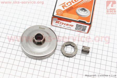 Тарелка сцепления + звезда 325-7 для китайских бензопил 4500/5200 + сепаратор