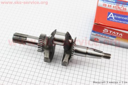 Коленвал под шлиц Ø25мм L=230мм,двигатель 168Fдля мотоблоков