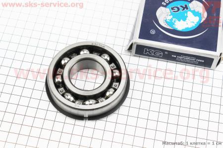 Подшипник 50307 (6307 NR) (35x80x21) с канавкой под стопорное кольцо в комплекте со стопорным кольцом, ИНДИЯ к минитракторам DongFeng 240-404