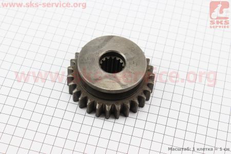 Шестерня главного вала раздаточной коробки Z=27/15 DongFeng 354/404 (304.42.106-1) к минитракторам DongFeng 240-404