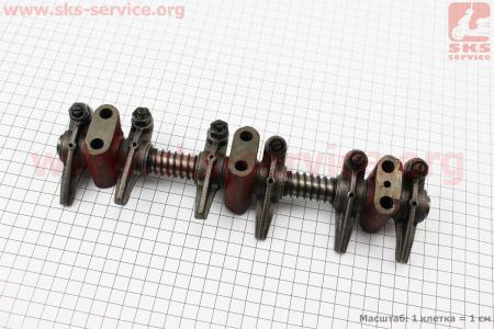 Коромысло клапана с стойками в сборе (L375-03205) к минитракторам Foton 240-404, Jinma 244264, ДТЗ