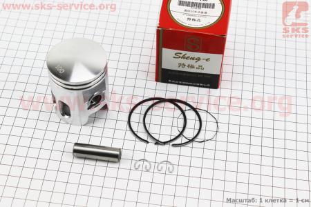 Поршень, кольца, палец к-кт Yamaha AXIS-90 50мм +1,00 красная коробка (палец 12мм)  для скутера