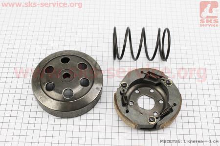 Сцепление заднего вариатора + колокол + ружина торкдрайвера к-кт 3шт Honda DIO AF18 для скутера