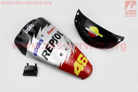 Honda DIO AF-34 пластик - к-кт крашеные 5 деталей, TUNING на ЯПОНСКУЮ мототехнику