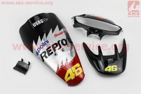 Honda DIO AF-35 пластик - к-кт крашеные 6 деталей, TUNING на ЯПОНСКУЮ мототехнику