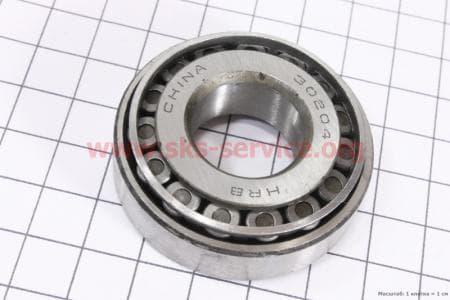 Подшипник 30204 (20x47x14) конический роликовый для мотоблока с двигателем 178F-186F