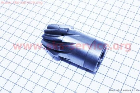 Шестерня КПП вторичного вала Z=10 для мотоблока с двигателем 178F-186F
