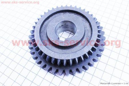 Шестерня КПП вторичного вала Z=39x40, Øвн.=25мм для мотоблока с двигателем 178F-186F