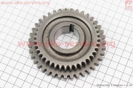 Шестерня КПП вторичного вала Z=39x40, Øвн.=32мм для мотоблока с двигателем 178F-186F
