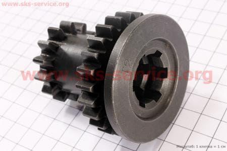 Шестерня КПП первичного вала Z=14x25 для мотоблока с двигателем 178F-186F