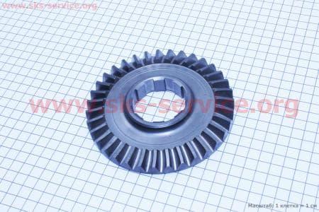 Шестерня полуоси вторичного вала Z=35 Тип №1 для мотоблока с двигателем 178F-186F
