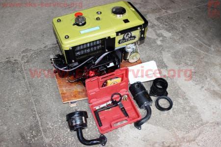 Двигатель мотоблочный в сборе + стартер 8л.с. ZUBR SH180NDL З/ч на двигатель дизельный R-175N/180N/ - 7/9 л.с.