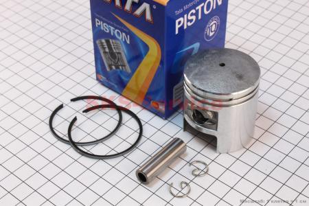 Поршень, кольца, палец к-кт 50сс 41мм STD (палец 10мм) на двигатель TB50,65сс 2-T цепной вариатор (скутер)