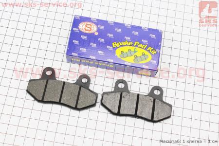 Тормозные колодки дисковые без уха к-т(2шт.) Китай для китайских скутеров Storm 50, 150, NEW (Viper)
