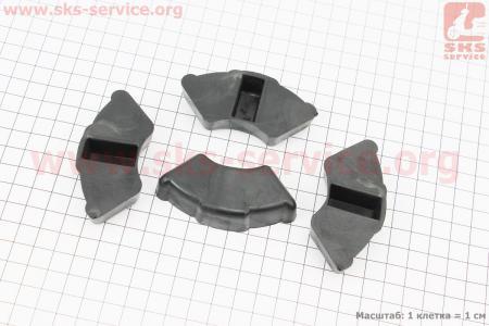 Демпферная резинка заднего литого колеса (к-кт 4шт) для мопеда Delta (Viper)