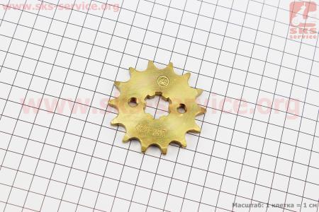 Звезда передняя JH70-428H-14T GOLD  для мопеда Delta (Viper)