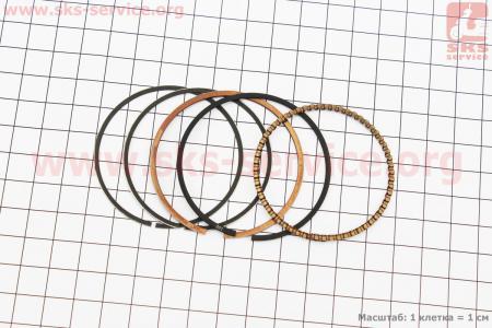 Кольца поршневые 110сс 52,4мм +1,00 для мопеда Delta (Viper)