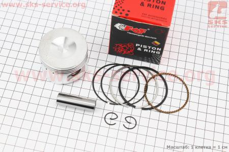 Поршень, палец, кольца к-кт 110сс 52,4мм STD (палец 13мм) для мопеда Delta (Viper)