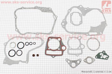 Прокладки двигателя  к-кт 110cc для мопеда Delta (Viper)