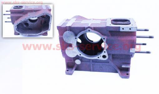 Блок двигателя R180NM (длинный) (+гильза+шпильки 4шт) З/ч на двигатель дизельный R-175N/180N/ - 7/9 л.с.