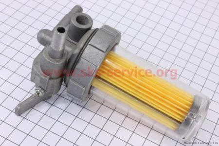 Кран топливный в сборе (пластик стакан) (Вариант А) З/ч на двигатель дизельный R-175N/180N/ - 7/9 л.с.