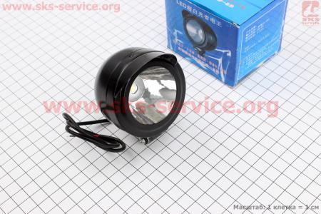 Фара дополнительная светодиодная 6W - 1LED для мопеда Delta (Viper)