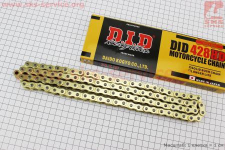 Цепь привода колеса 428Н*98L GOLD для мопеда Delta (Viper)