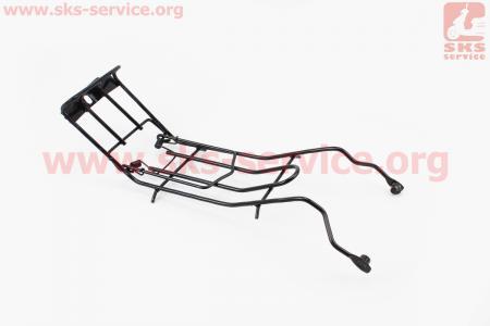 Багажник средний металлический, черный для мопеда Active (Viper)