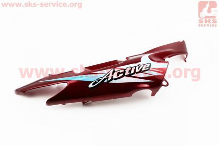 пластик - боковой задний правый, КРАСНЫЙ для мопеда Active (Viper)