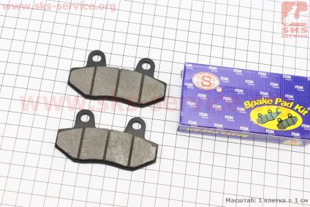 Тормозные колодки дисковые без уха к-т(2шт.) для мопеда SPORT50 MX50V(Suzuki) (Viper)