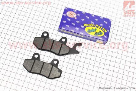 Тормозные колодки дисковые с ухом передние к-т(2шт.) Китай для мопеда SPORT50 MX50V(Suzuki) (Viper)