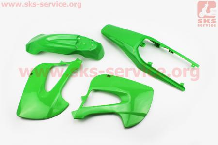 пластик - ВЕСЬ к-кт деталей - 6ед. ЗЕЛЕНЫЙ для ПИТБАЙКА - PIT BIKE Viper V125P (ENDURO)