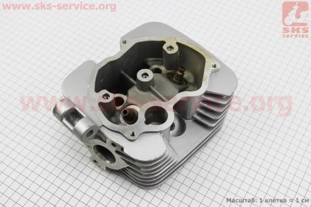 Головка цилиндра 150cc-62mm (голая, на 2 глушителя) на двигатель CG125-250cc (с толкателями), на ZUBR