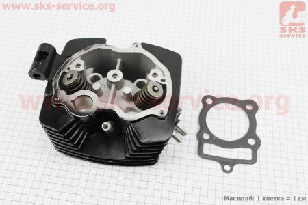 Головка цилиндра 200cc-63,5mm + клапана к-кт CGB на двигатель CG125-250cc (с толкателями), на ZUBR
