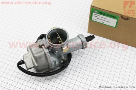Карбюратор СВ/CG-200 (d=30), дросель ручной на двигатель CG125-250cc (с толкателями), на ZUBR