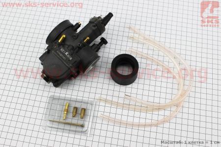 Карбюратор SPORT PWK 32 (d=32mm) с мех. заслонкой на двигатель CG125-250cc (с толкателями), на ZUBR