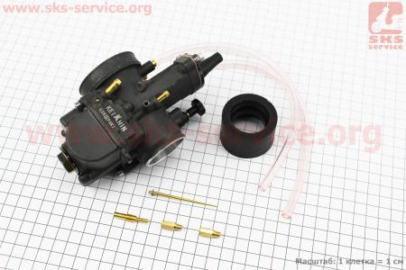 Карбюратор SPORT PWK 34 (d=34mm) с мех. заслонкой на двигатель CG125-250cc (с толкателями), на ZUBR