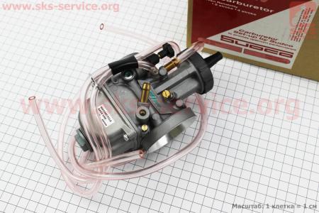 Карбюратор SPORT PWK 38 (d=38mm) с мех. заслонкой, оригинальный на двигатель CG125-250cc (с толкателями), на ZUBR