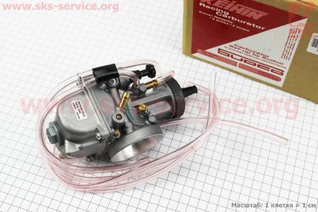 Карбюратор SPORT PWK 40 (d=40mm) с мех. заслонкой, оригинальный на двигатель CG125-250cc (с толкателями), на ZUBR