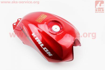 Бак топливный, КРАСНЫЙ для мотоцикла Loncin KINLON JL150