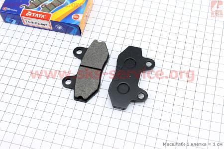 Тормозные колодки дисковые без уха к-т(2шт.) для мотоцикла Loncin KINLON JL150